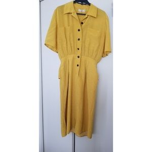 Valentino Miss V Mini Polka Dot Yellow Dress Size8